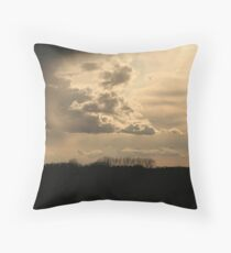 There IS a silver lining behind every cloud! Throw Pillow