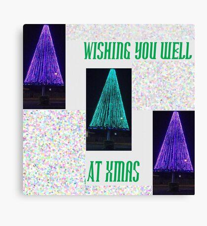 Well Lit Merry Xmas Canvas Print