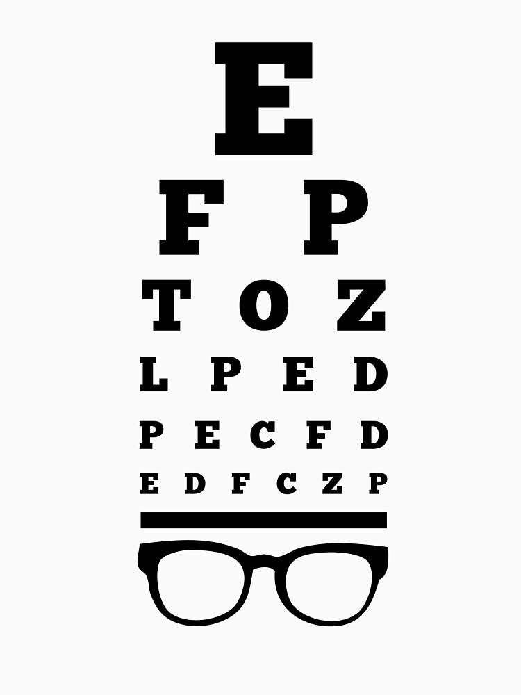 """Eye Chart Optometrist"" T-shirt by AurlexTees | Redbubble"