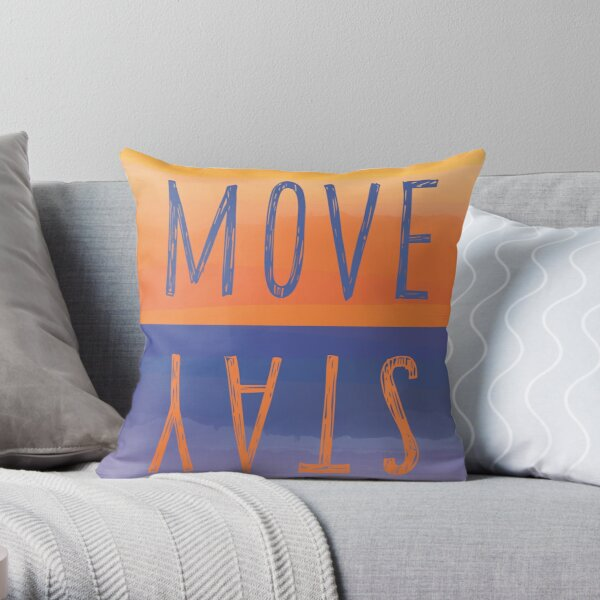 Move or Stay Camp Locations? Throw Pillow
