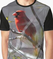 red cardinal in a tree 2 Graphic T-Shirt