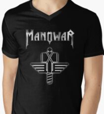 manowar - Lights that do mislead the morn;  Men's V-Neck T-Shirt