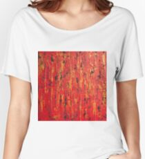 Acrylic abstract painting Women's Relaxed Fit T-Shirt
