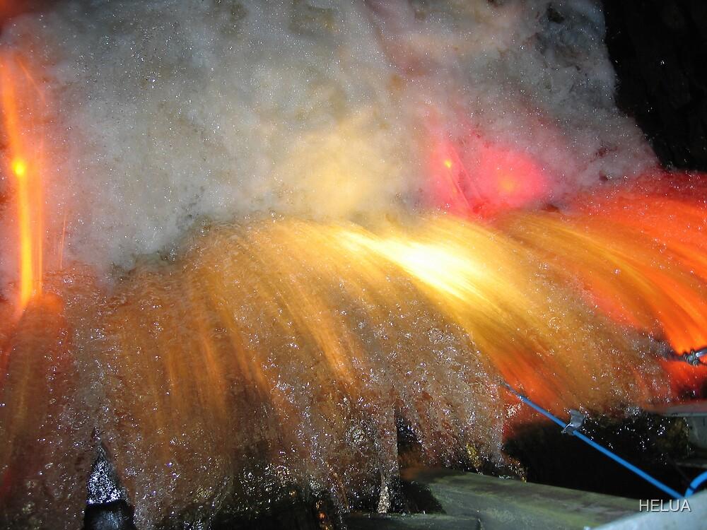 Illumined Waterfall II by HELUA