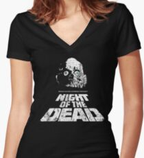 NIGHT OF THE DEAD Women's Fitted V-Neck T-Shirt
