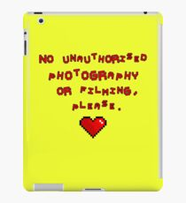 No unauthorised  photography  or filming, please. iPad Case/Skin