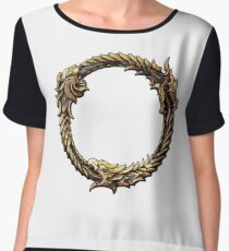 Elder Scrolls Dragon loop Women's Chiffon Top
