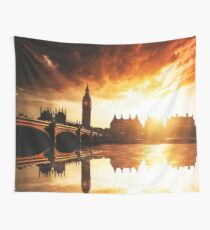 london reflections Wall Tapestry