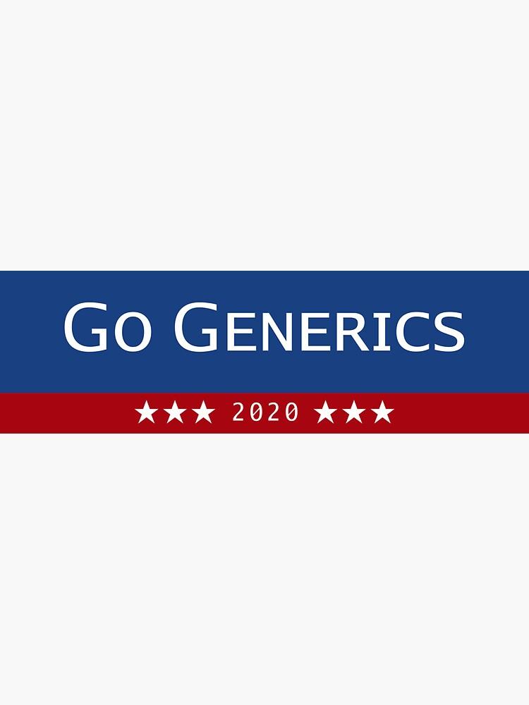 Go Generics 2020   Sticker
