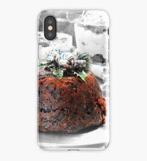 Christmas pudding iPhone Case/Skin