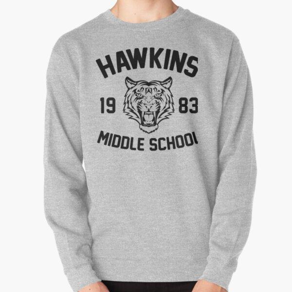 Hawkins Middle School Mens Club Cool Inspired Hoodie Eleven TV TIGER Tumblr