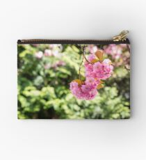 pink flowers on sakura branches Studio Pouch