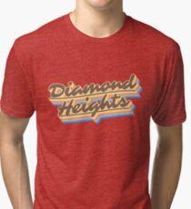 Diamond Heights | Retro Rainbow Tri-blend T-Shirt
