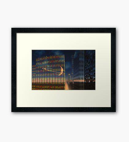 Below the Ringed Planet Framed Print