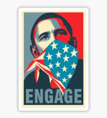 Obama ENGAGE Sticker