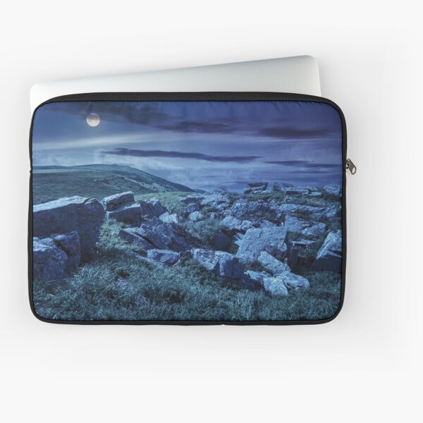 boulders on the mountain meadow at night  Laptop Sleeve