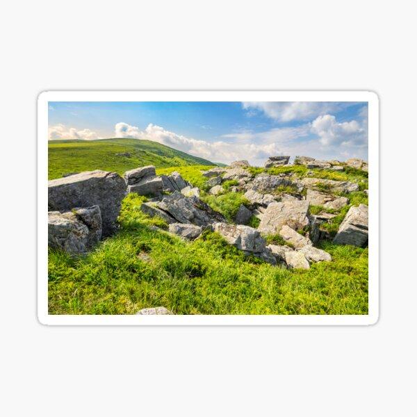 boulders on the mountain meadow Sticker