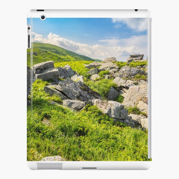 boulders on the mountain meadow iPad Snap Case