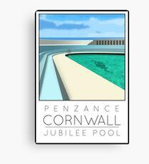 Lido Poster Penzance Jubilee Canvas Print