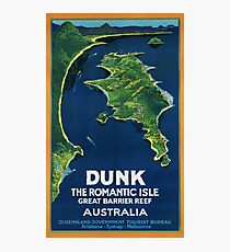 Vintage Dunk Island Travel Poster Photographic Print