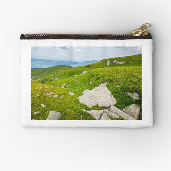 stones on the mountain top Zipper Pouch