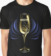 Wineglass of Champagne ( Happy New Year ) Graphic T-Shirt