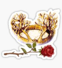 The Stag and Rose Sticker