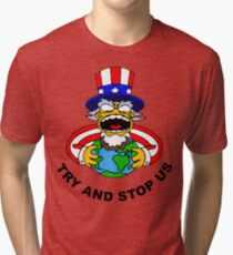Try And Stop USA! Tri-blend T-Shirt