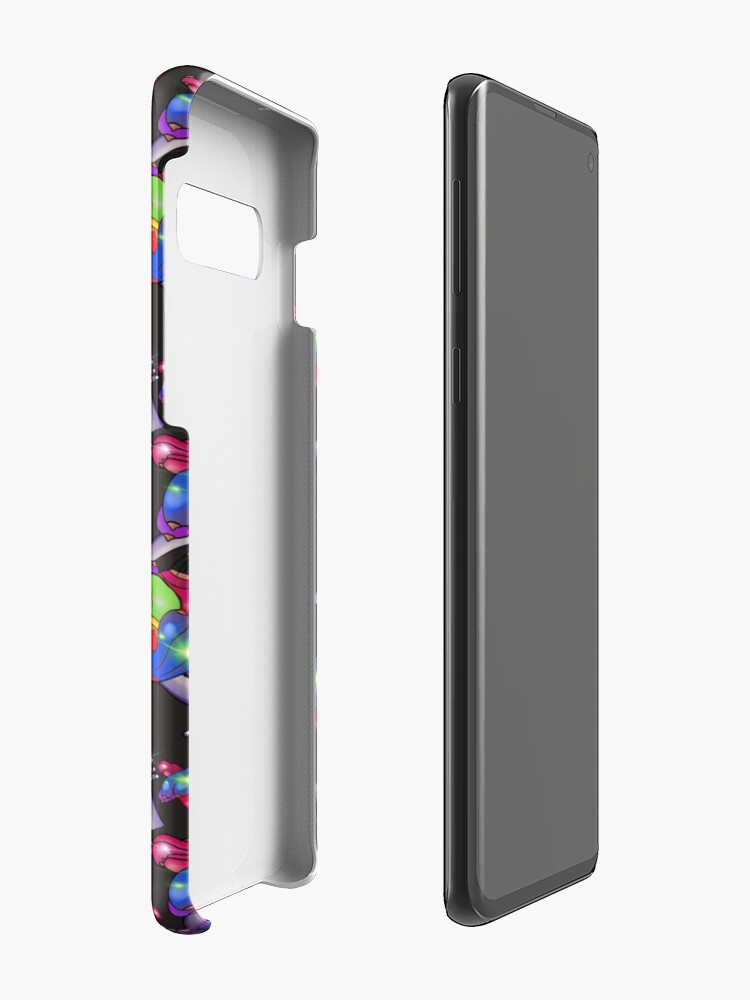 Alternate view of Rainbow Skywhale says YES - Black  Case & Skin for Samsung Galaxy