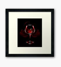 Wineglass of Red Wine Framed Print