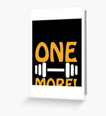 Personal Trainer T Shirt   One more Greeting Card