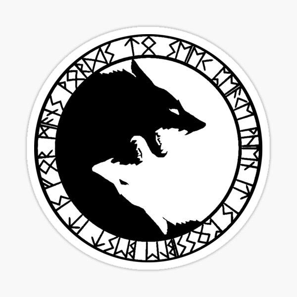 Loup viking Sticker
