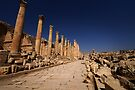 JERASH - THE COLONNADED STREET by BYRON