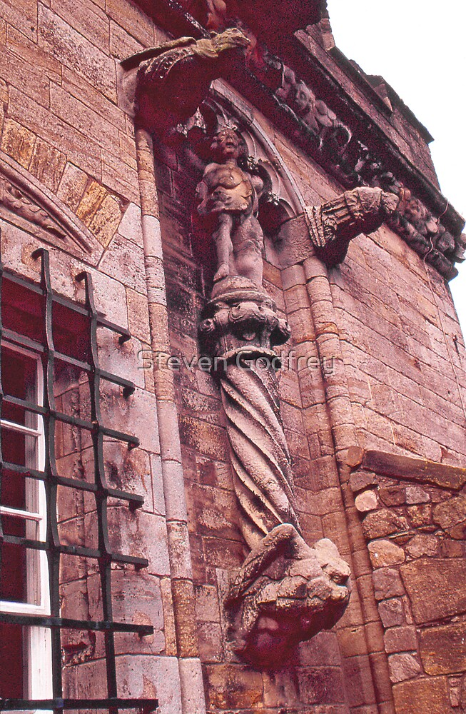 Grotesques and Column - Stirling Castle by Steven Godfrey