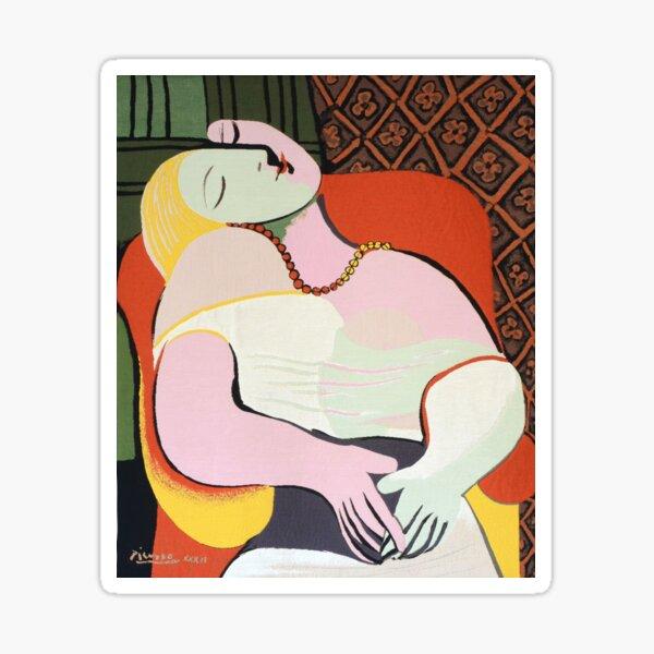 """Le Rêve ( """"The Dream"""")- Pablo Picasso Sticker"""