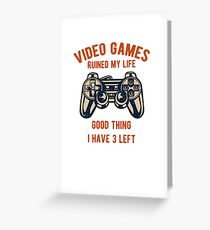 Video Games / Video Gamers Greeting Card