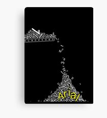 Arial Font Funny Falling Alphabet Canvas Print