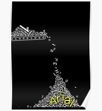 Arial Font Funny Falling Alphabet Poster