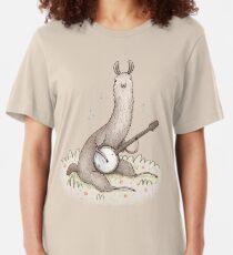 Banjo Llama Slim Fit T-Shirt