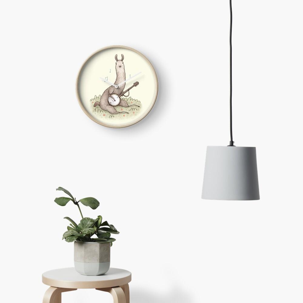 Banjo Llama Clock
