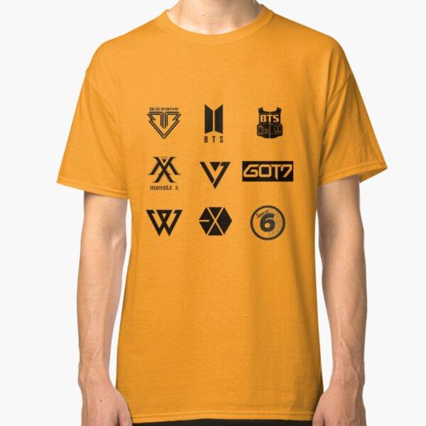 KPOP - Hoja de pegatinas de grupos de chicos Camiseta clásica