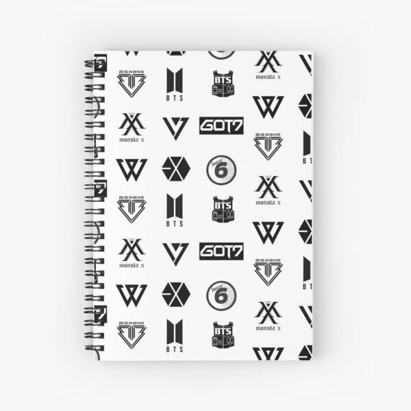 KPOP - Boy Group Sticker Sheet Spiral Notebook