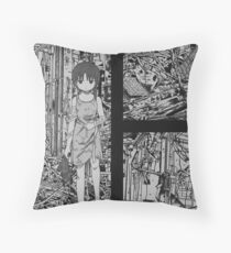 Serial Experiments Lain - wired in solitude  Throw Pillow