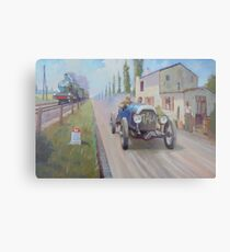 A veteran Italia in the Paris-Rome road race in France in 1905. Metal Print
