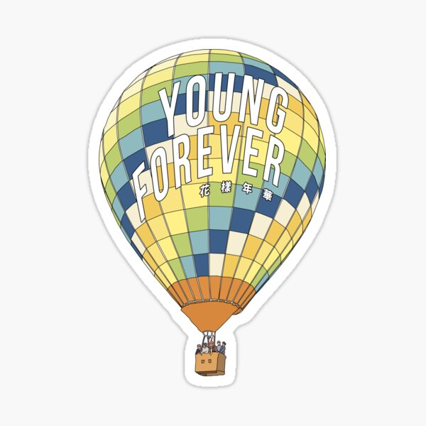 young forever Sticker