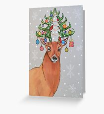 Cerf Sapin de Noël Greeting Card