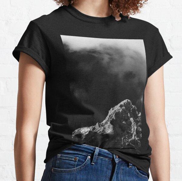 Black and white sun illuminated mountain Classic T-Shirt
