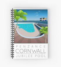 Lido Poster Penzance Jubilee 2 Spiral Notebook