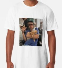 Joe Keery, Champagne and Pomeranian  Long T-Shirt