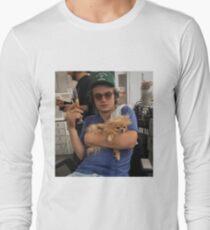 Joe Keery, Champagne and Pomeranian  Long Sleeve T-Shirt